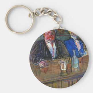 The bar by Toulouse-Lautrec Keychains