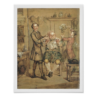 The Barber, c.1760-69 (oil on canvas) Poster