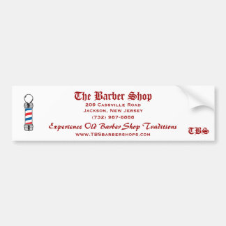 The Barber Shop bumper sticker