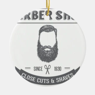 The barber shop ceramic ornament