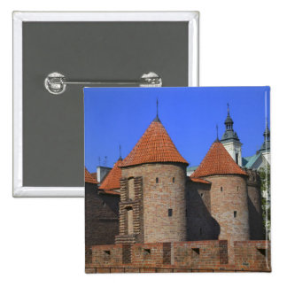 The Barbican and Pauline Church, Warsaw, 15 Cm Square Badge