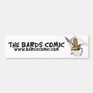 The Bards Comic Bumper Sticker