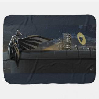 """The Bark Knight"" Superhero Pun Illustration Baby Blanket"