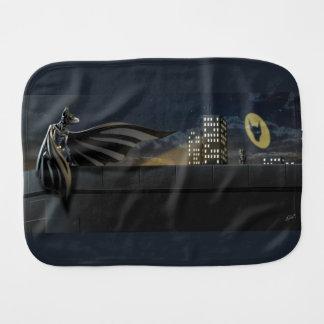 """The Bark Knight"" Superhero Pun Illustration Burp Cloth"