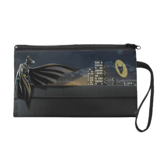 """The Bark Knight"" Superhero Pun Illustration Wristlet"