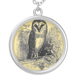 The Barn Owl Silver Plated Necklace