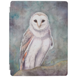 The Barn Owl Wildlife Watercolor Art iPad Cover
