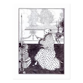The Baron's Prayer, from 'The Rape of the Lock', b Postcard
