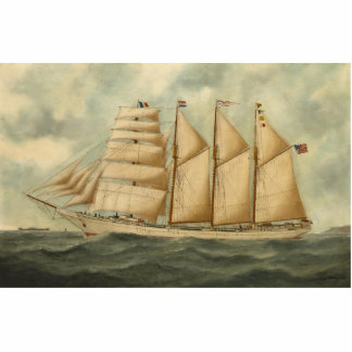 The barquentine Herdis of the American Star Line Photo Sculptures