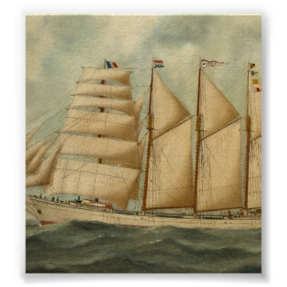 The barquentine Herdis of the American Star Line Poster