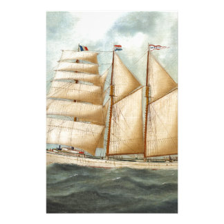 The Barquentine HERDIS of the American Star Line Stationery
