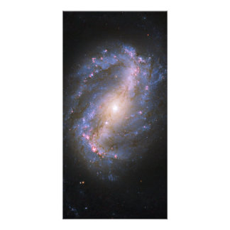 The Barred Spiral Galaxy NGC 6217 Custom Photo Card