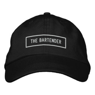 The Bartender Headline Embroidery Embroidered Hat