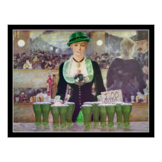 The Bartender sells  $1 Green Beer Poster