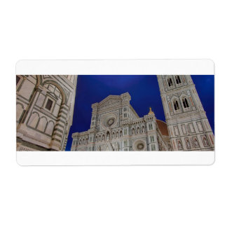 The Basilica di Santa Maria del Fiore in Florence, Shipping Label