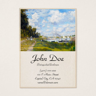 The Basin at Argenteuil Claude Monet Business Card