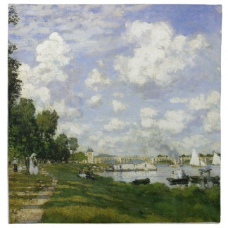 The Basin at Argenteuil - Claude Monet Napkin
