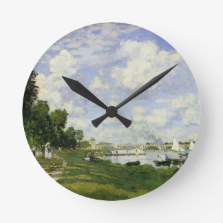 The Basin at Argenteuil - Claude Monet Round Clock