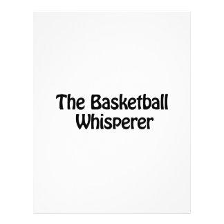 """the basketball whisperer 8.5"""" x 11"""" flyer"""