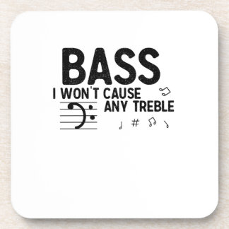 The Bass Player  Music Lover Bass Guitar Gifts Coaster