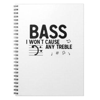 The Bass Player  Music Lover Bass Guitar Gifts Notebooks
