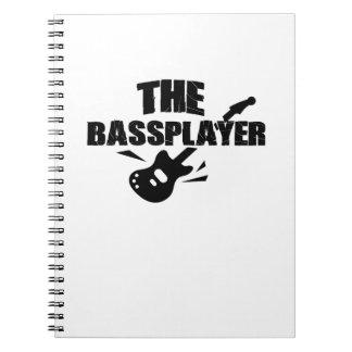 The Bass Player  Music Lover Bass Guitar Gifts Spiral Notebook