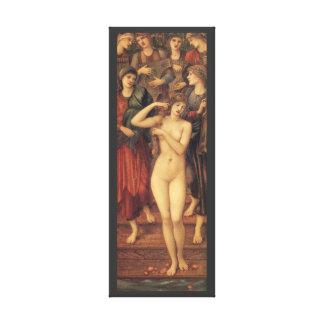 The Bath of Venus by Sir Edward Coley Burne Jones Stretched Canvas Print