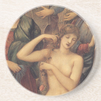 The Bath of Venus by Sir Edward Coley Burne Jones Beverage Coasters