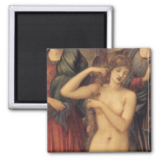 The Bath of Venus by Sir Edward Coley Burne Jones Square Magnet