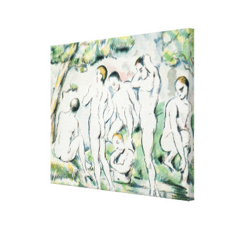 The Bathers, Small plate Canvas Print