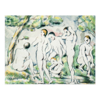 The Bathers, Small plate Postcard