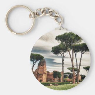 The Baths of Caracalla in Rome Basic Round Button Key Ring