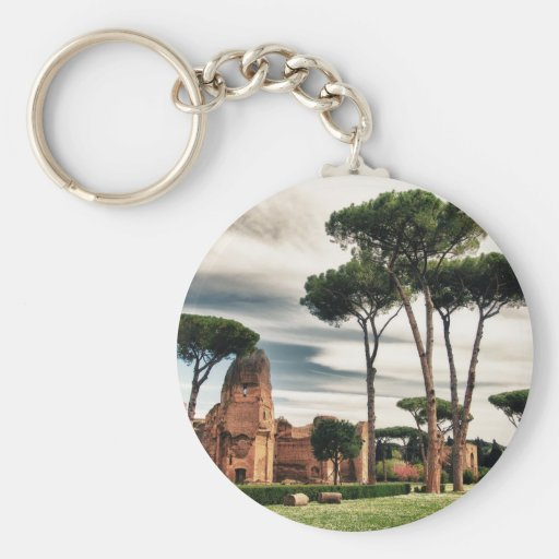 The Baths of Caracalla in Rome Key Chains