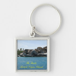 The Baths Offshore Silver-Colored Square Key Ring