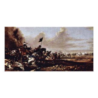 The Battle By Eismann Johann Anton Best Quality Customized Photo Card