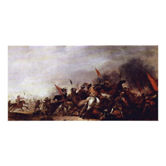The Battle By Weyer Jacob (Best Quality) Custom Photo Card