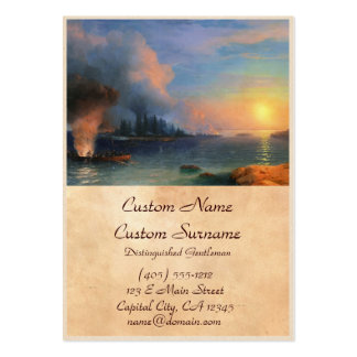 The Battle of Bomarsund Ivan Aivazovsky seascape Pack Of Chubby Business Cards
