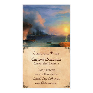 The Battle of Bomarsund Ivan Aivazovsky seascape Pack Of Standard Business Cards