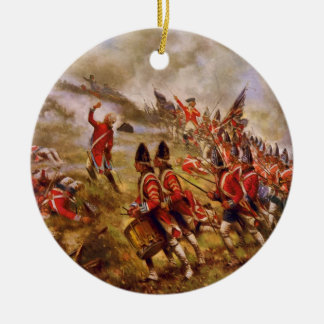 The Battle of Bunker Hill by E. Percy Moran Round Ceramic Decoration