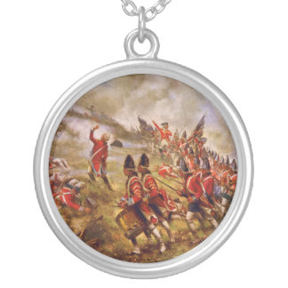 The Battle of Bunker Hill by E. Percy Moran Silver Plated Necklace