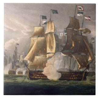 The Battle of Cape St. Vincent, February 14th 1797 Ceramic Tile