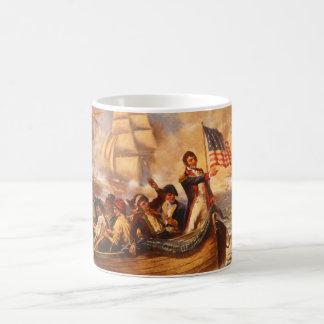 The Battle of Lake Erie by Percy Moran Coffee Mug