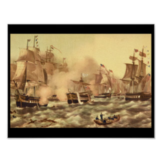 The Battle of Lake Erie, Commodore_Engravings Poster
