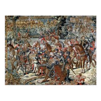 The Battle of Pavia. Postcard