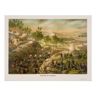 The Battle of Resaca by Kurz and Allison 1864 Poster