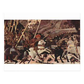 The Battle of San Romano by Paolo Uccello Postcard