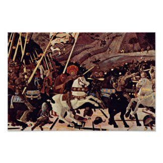 The Battle Of San Romano By Paolo Uccello Poster