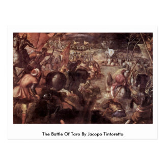 The Battle Of Taro By Jacopo Tintoretto Postcard
