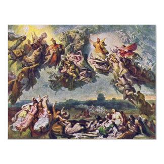 The Battle Of The Huns By Wilhelm Von Kaulbach 11 Cm X 14 Cm Invitation Card