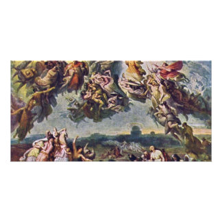 The Battle Of The Huns By Wilhelm Von Kaulbach Photo Card Template